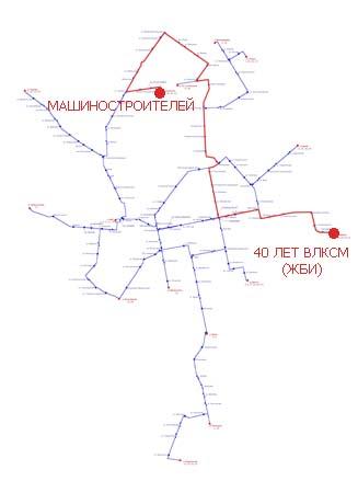 Трамвайный маршрут 8.