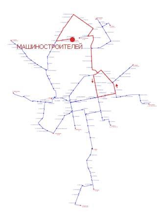 Трамвайный маршрут 26.